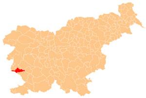 Komen - karta