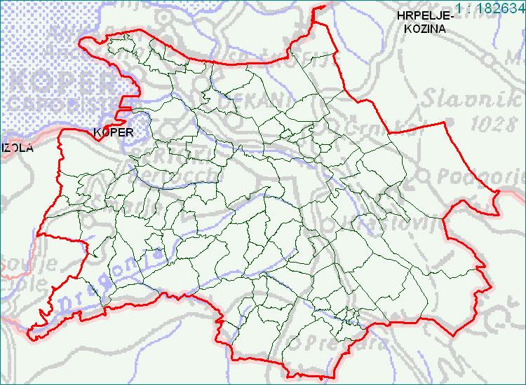 Koper - zemljevid