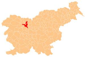 Kranj - karta