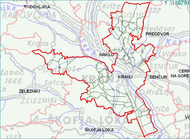 Kranj - zemljevid