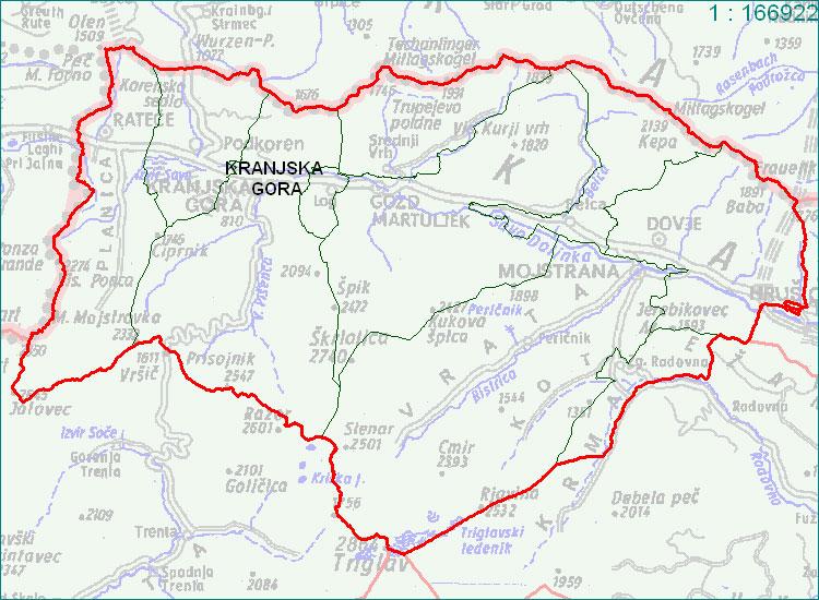 Kranjska Gora - zemljevid