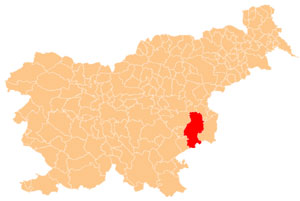 Krško - karta