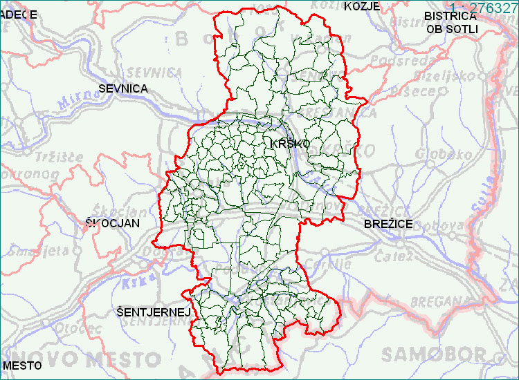 Krško - zemljevid