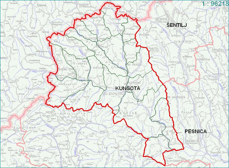 Kungota - zemljevid