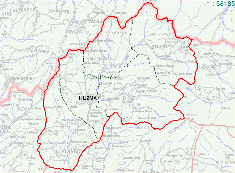 Kuzma - zemljevid