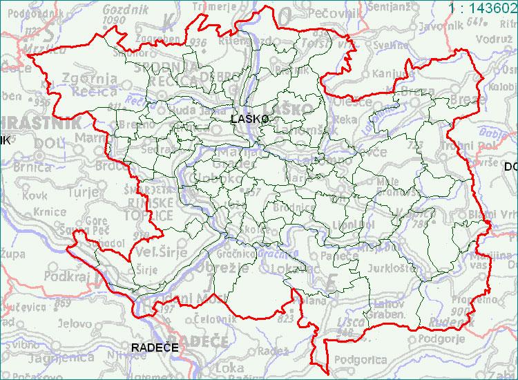 Laško - zemljevid