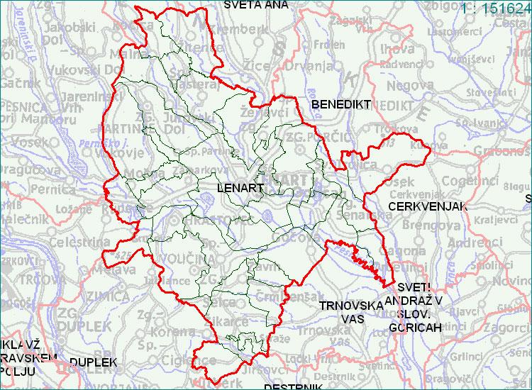 Lenart - zemljevid