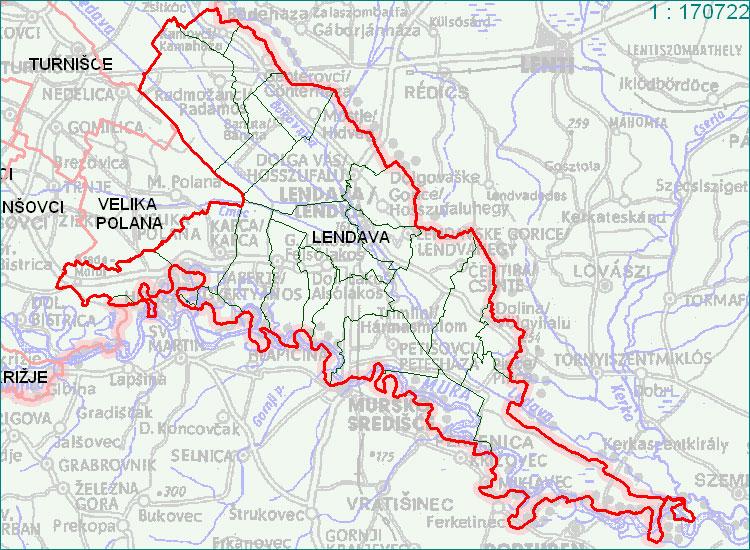 obcine lendava zemljevid Občina Lendava