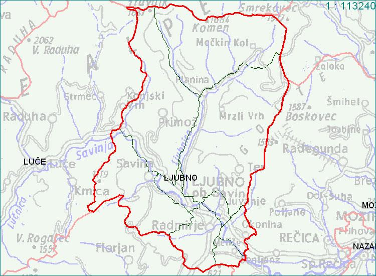 Ljubno - zemljevid