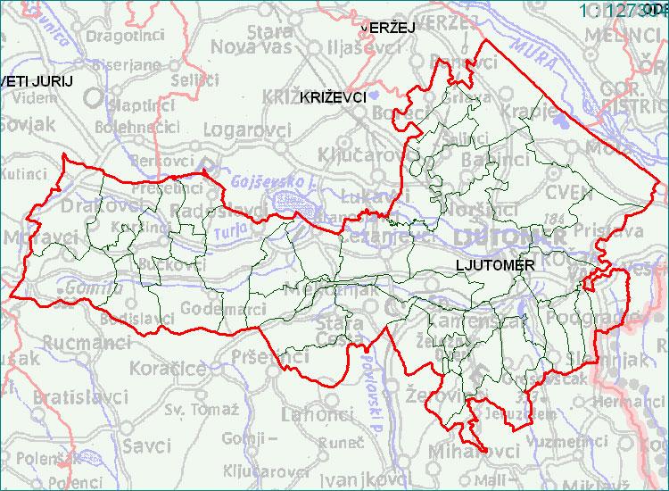Ljutomer - zemljevid