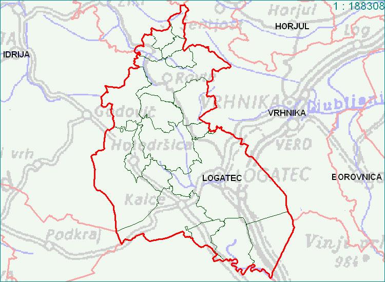 Logatec - zemljevid