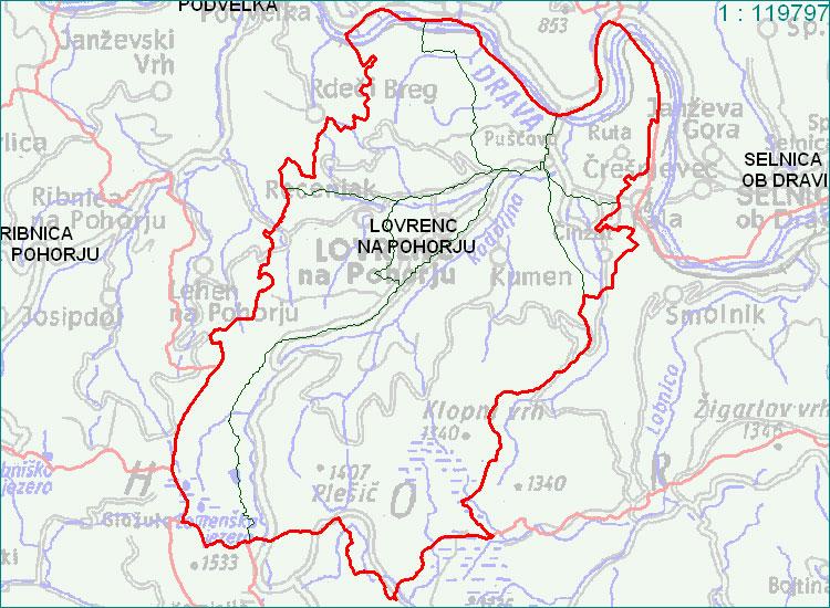 Lovrenc na Pohorju - zemljevid