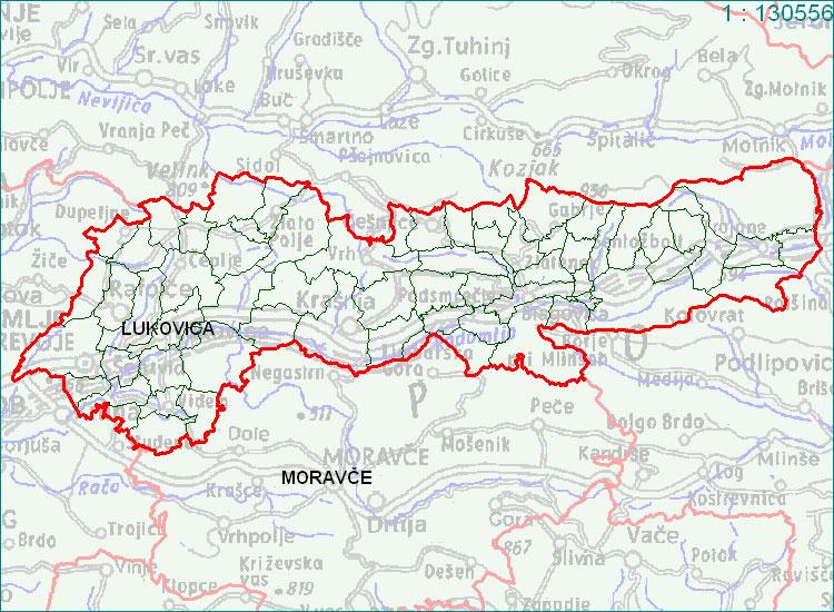 Lukovica - zemljevid