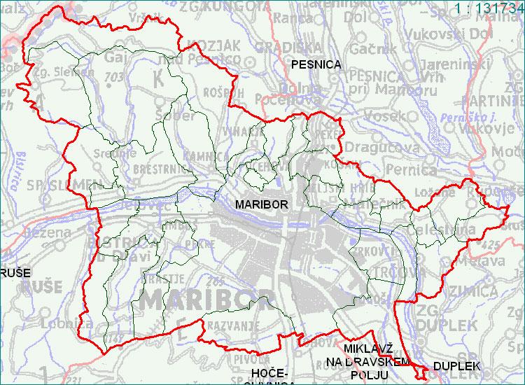 Maribor - zemljevid