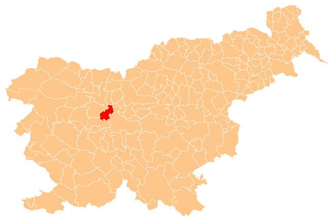 Medvode - karta