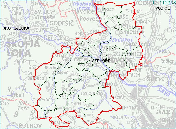 Medovde - zemljevid