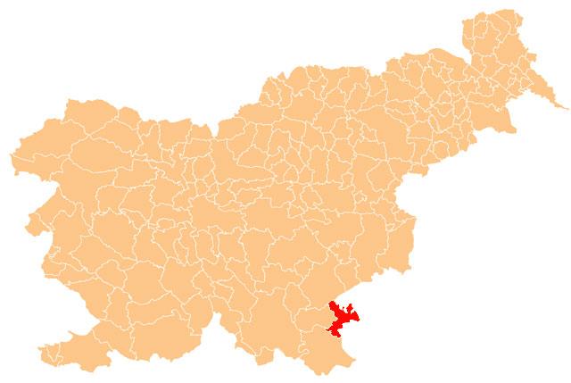 Metlika - karta