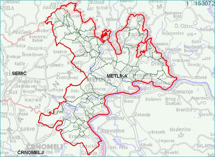 Metlika - zemljevid