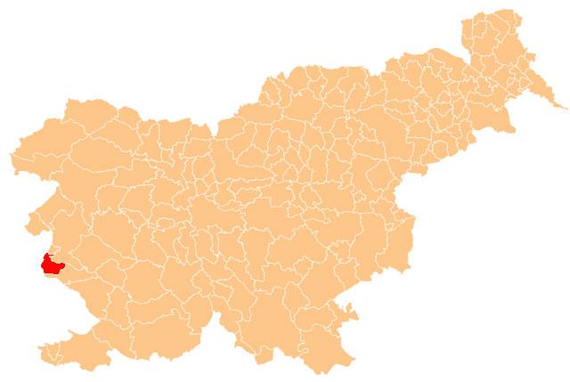 Miren - Kostanjevica - karta