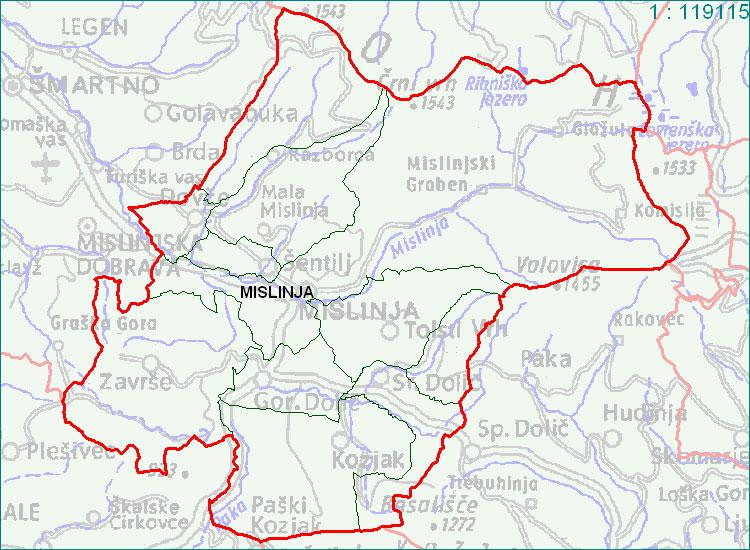 Mislinja - zemljevid