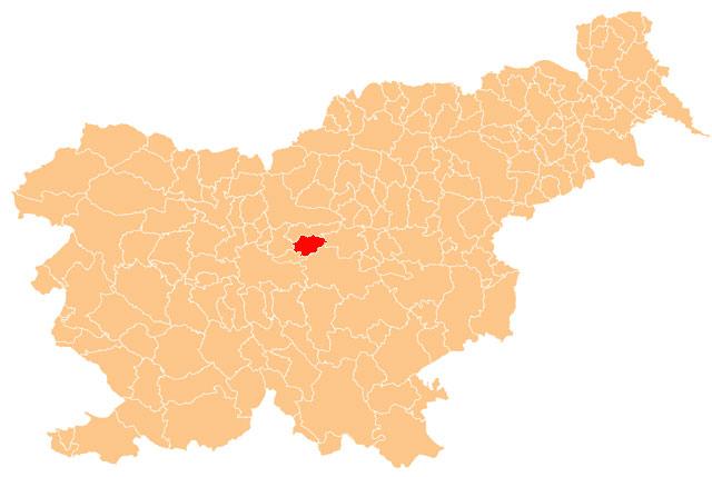 Moravče - karta