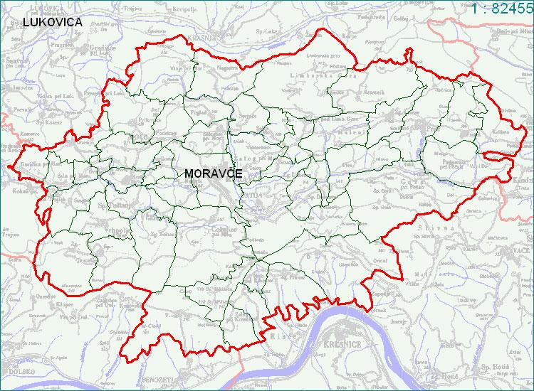 Moravče - zemljevid