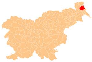 Moravske Toplice - karta