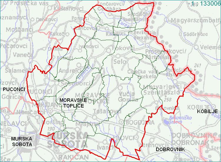 Moravske Toplice - zemljevid