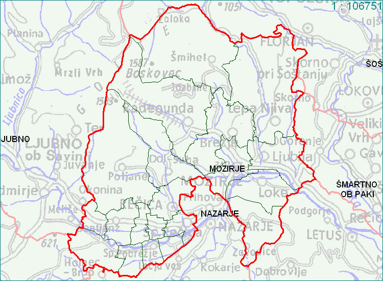 Mozirje - zemljevid
