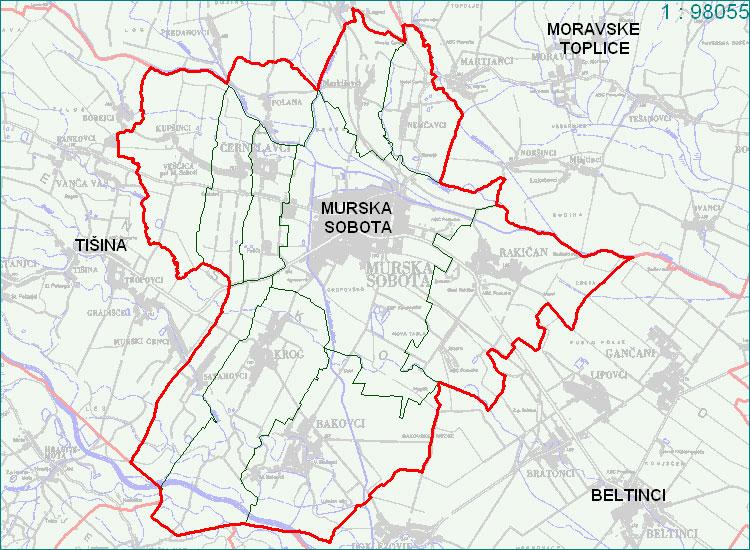 Murska Sobota - zemljevid
