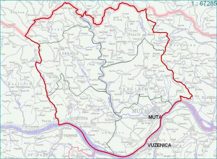 Muta - zemljevid