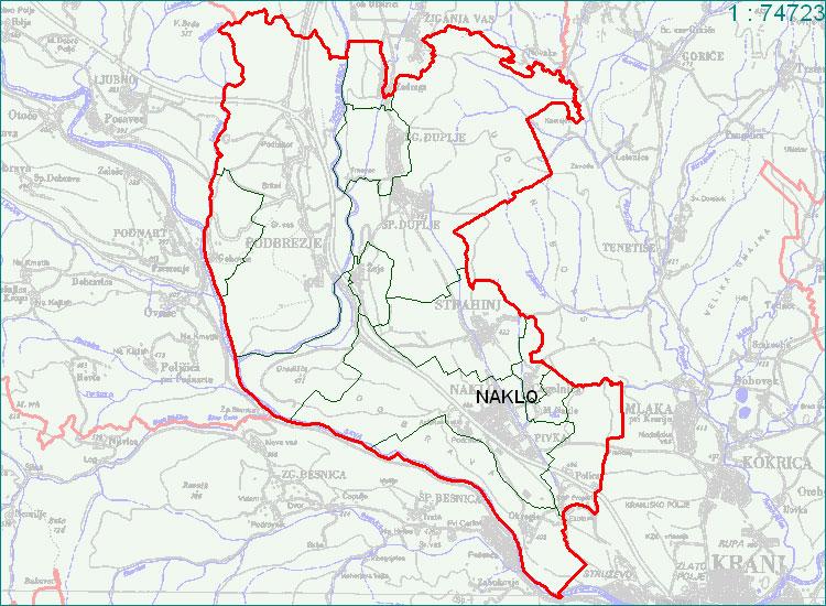 Naklo - zemljevid