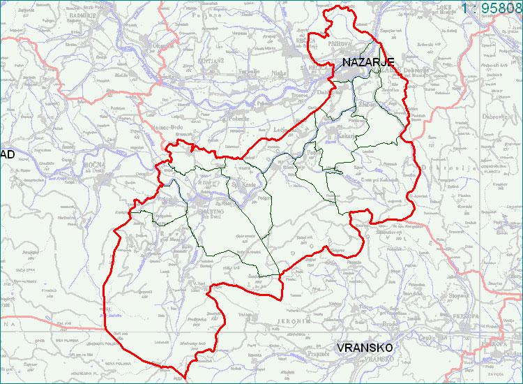 Nazarje - zemljevid
