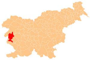 Nova Gorica - karta