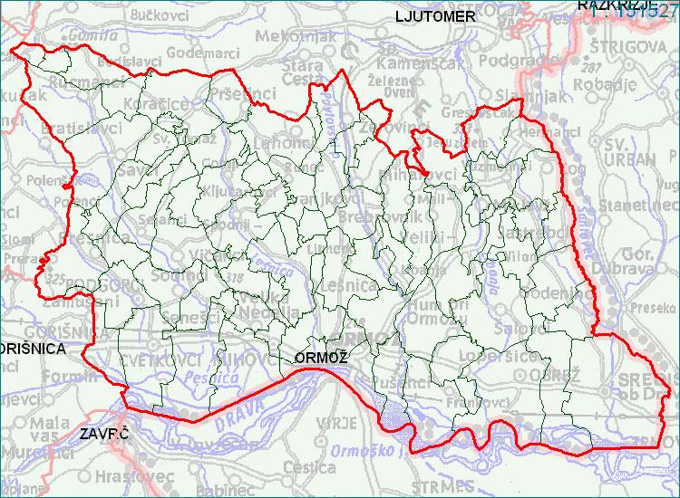 Ormož - zemljevid