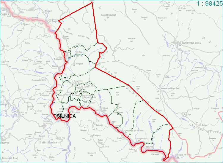 Osilnica - zemljevid