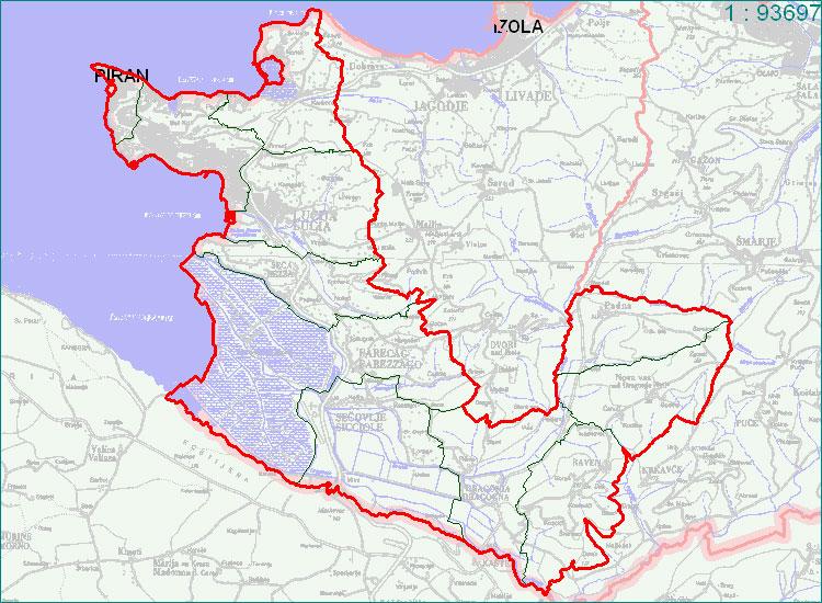 Piran - zemljevid
