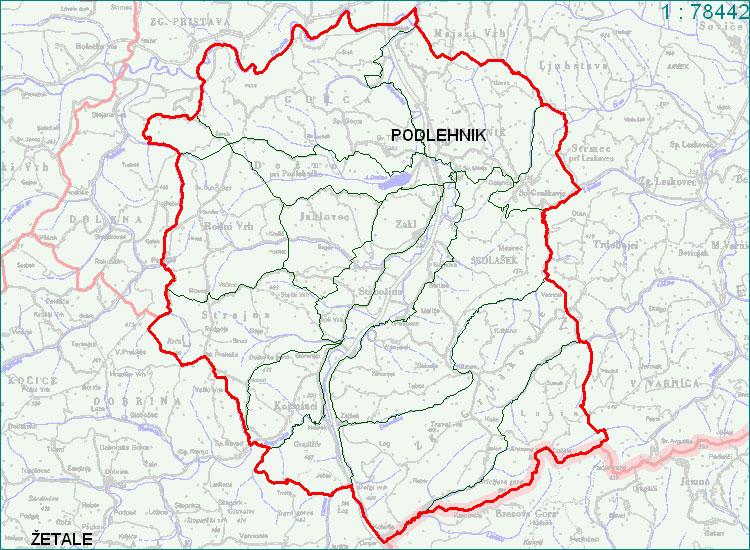 Podlehnik - zemljevid