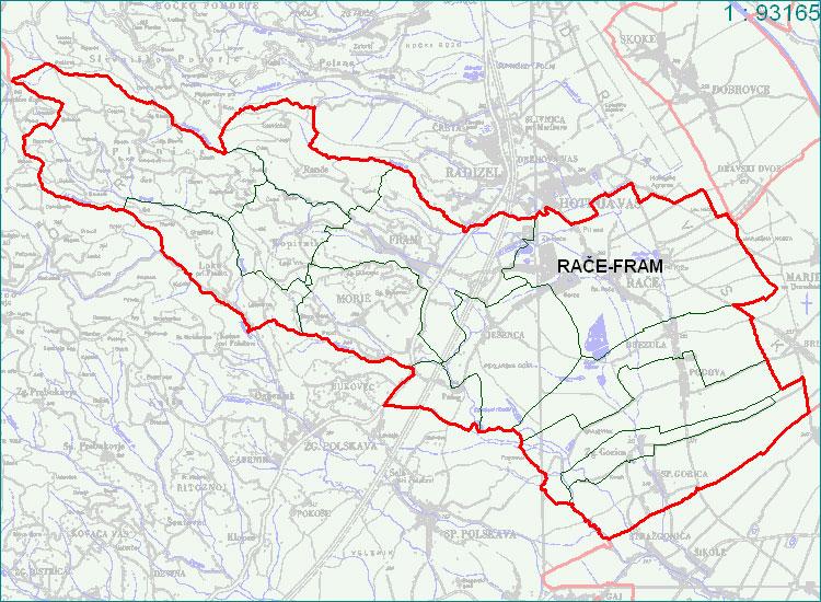 Rače - Fram - zemljevid