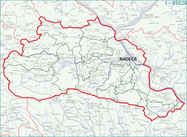Radeče - zemljevid
