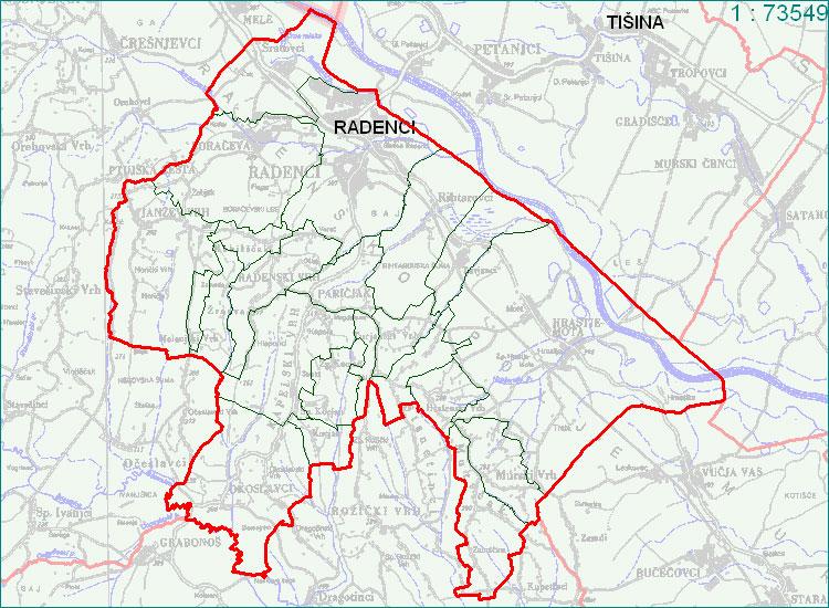 Radenci - zemljevid