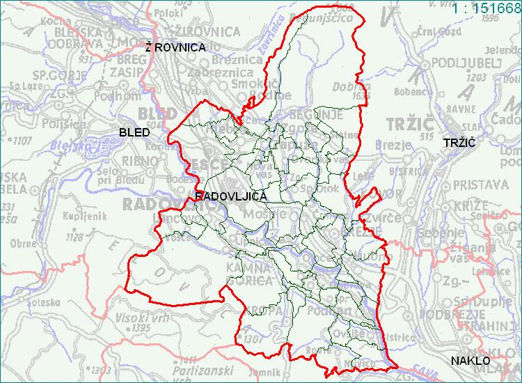 Radovljica - zemljevid