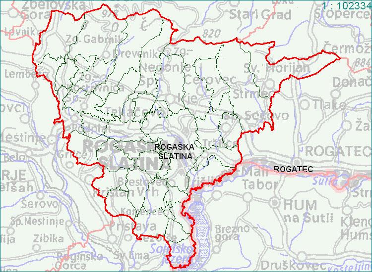 Rogaška Slatina - zemljevid