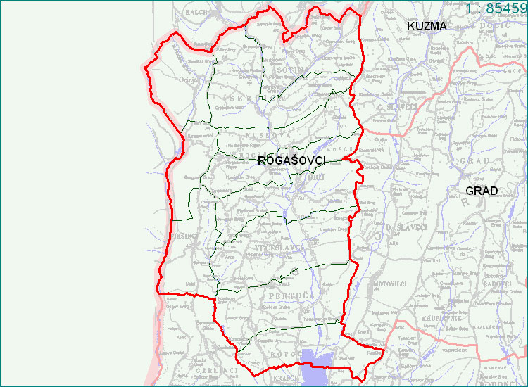 Rogašovci - zemljevid