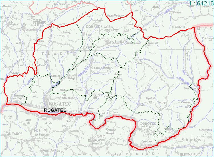 Rogatec - zemljevid