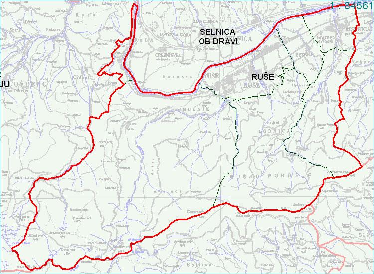 Ruše - zemljevid