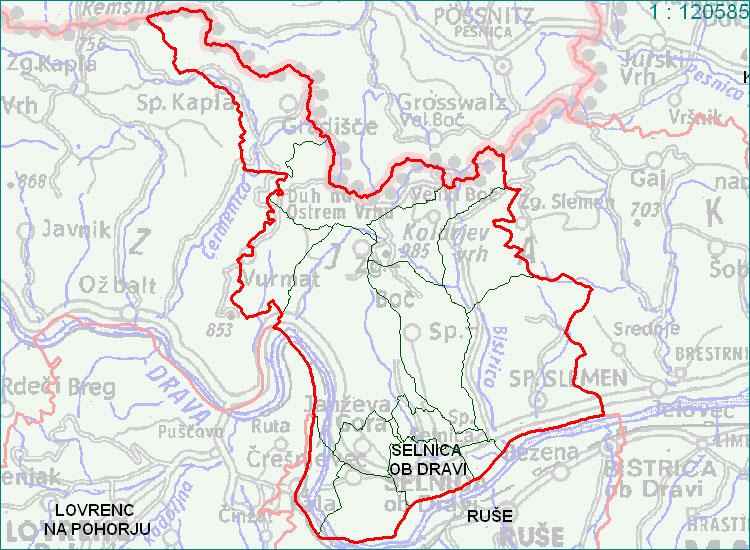 Selnica ob Dravi - zemljevid