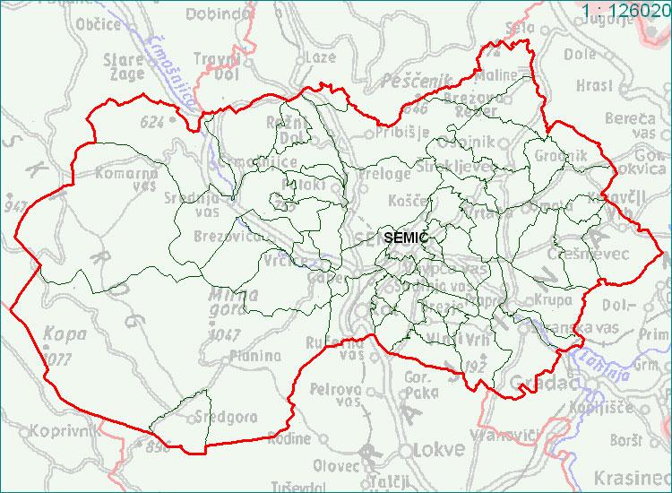 Semič - zemljevid