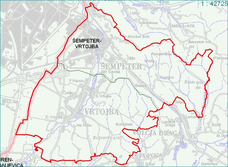 Šempeter - Vrtojba - zemljevid