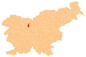 Šenčur - karta